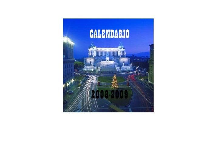 CALENDARIO    2008-2009