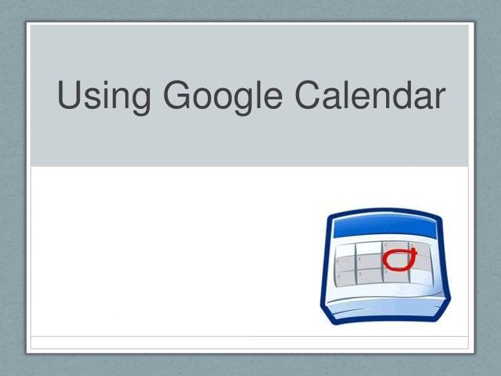 2012 Google Calendar Basics