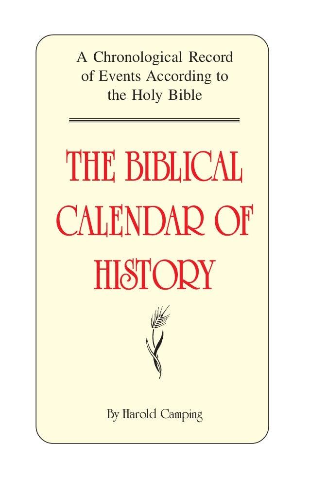 The Biblical Calendar of History