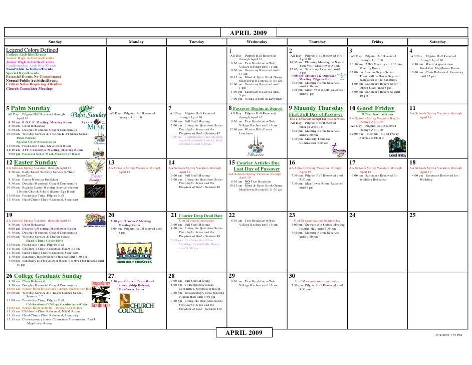 Calendar 2009 04 Ltr