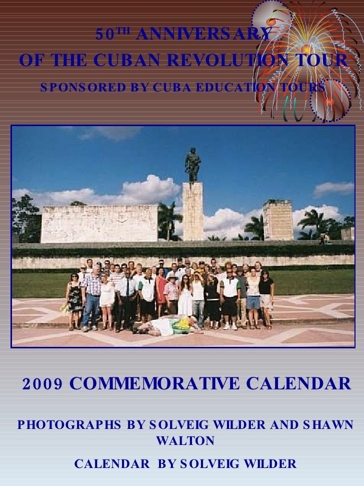 Calendar Draft Cars 50th Anniversary Of The Cuban Revolution