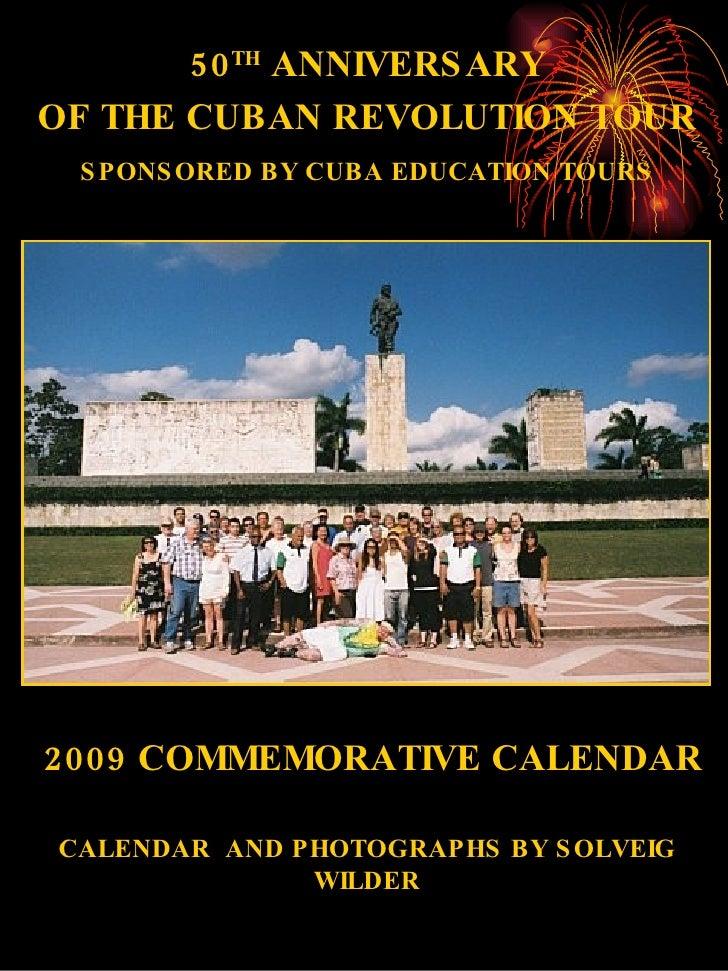 Calendar Final Wilder 50th Anniversary Of The Cuban Revolution