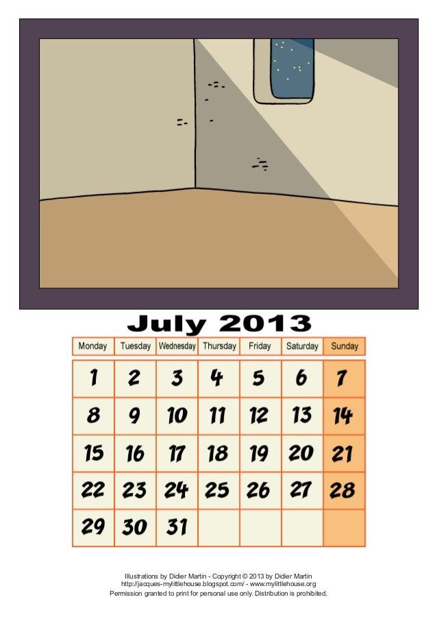 Calendar july-2013