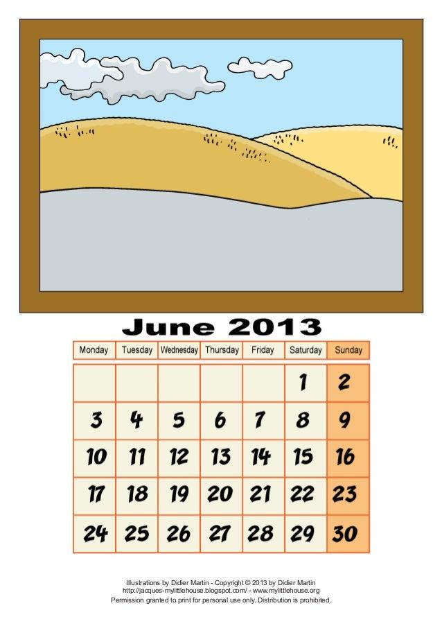 Calendar june-2013