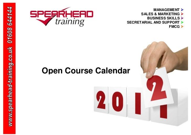 Spearhead Training Calendar 2012