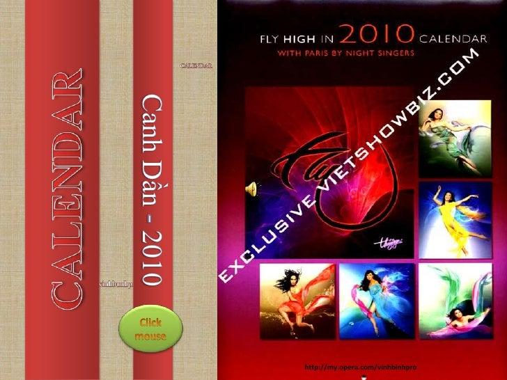 CALENDAR <br />CALENDAR<br />CanhDần- 2010<br />vinhbunhpro<br />Click <br />mouse<br />                                  ...