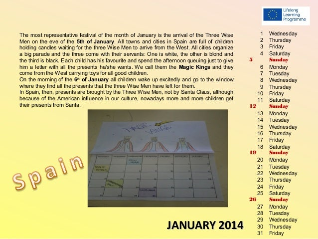 The calendar of traditions 2014