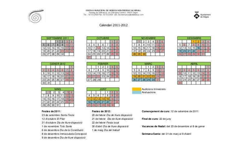 Calendari 2011-2012