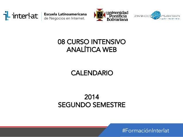 Calendario_08 Curso Intensivo Analítica Web Nicaragua-semestre 2_2014