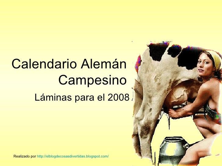 Calendario AlemáN campesino