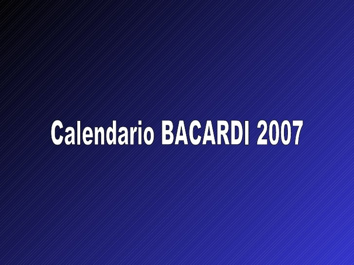 Calendario BACARDI 2007