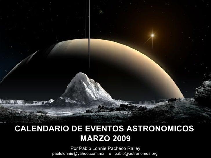 Calendario De Eventos Astronomicos 200903