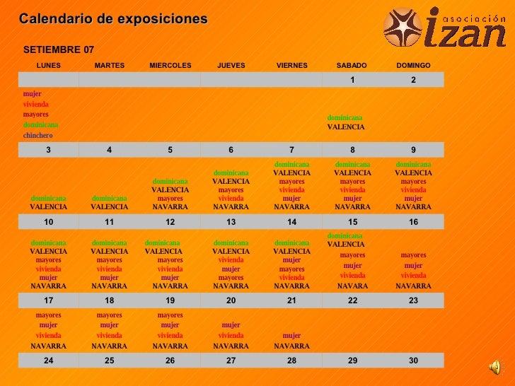 Calendario De Exposiciones 26 9
