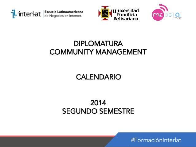 Calendario   diplomatura en community management argentina-semestre 2_2014