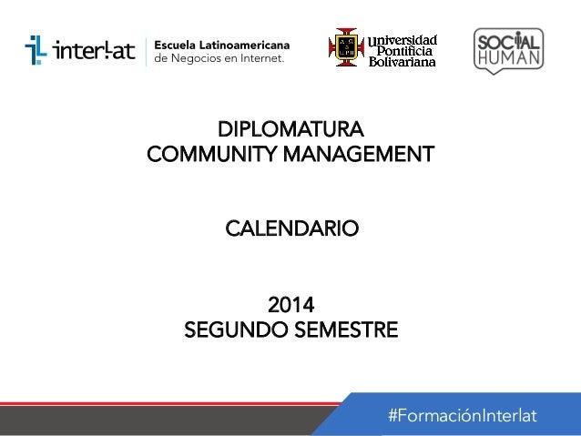 Calendario _Diplomatura en Community Management Panama-Semestre 2_2014