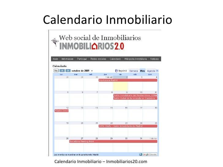 Calendario Inmobiliario - Inmobiliarios20.com