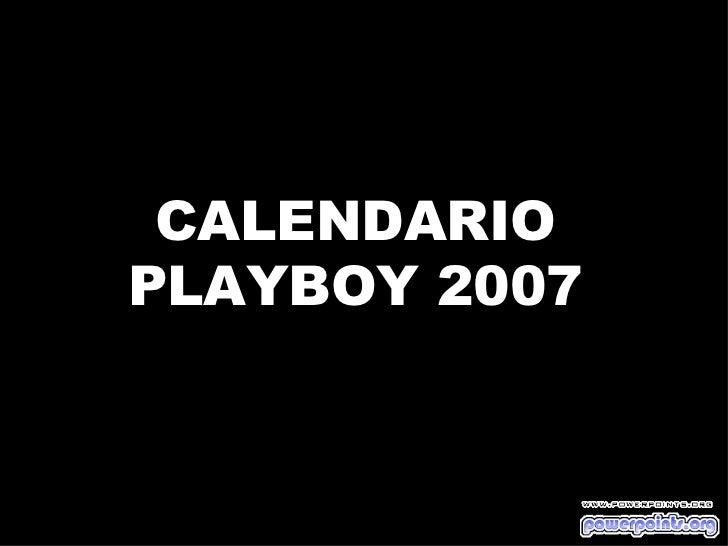 CALENDARIO PLAYBOY 2007