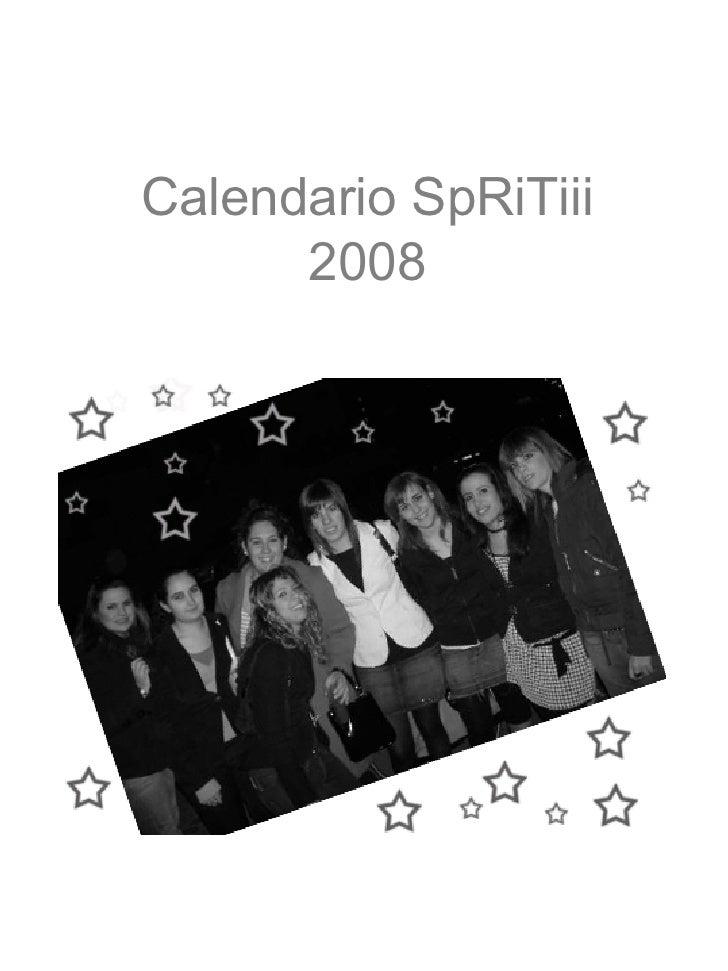 Calendario SpRiTiii 2008