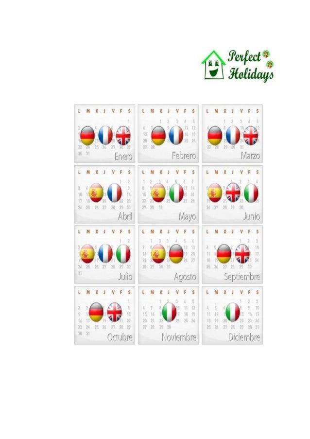Calendario según Reservas y Nacionalidades. Perfect Holidays - alquiler vacacional)