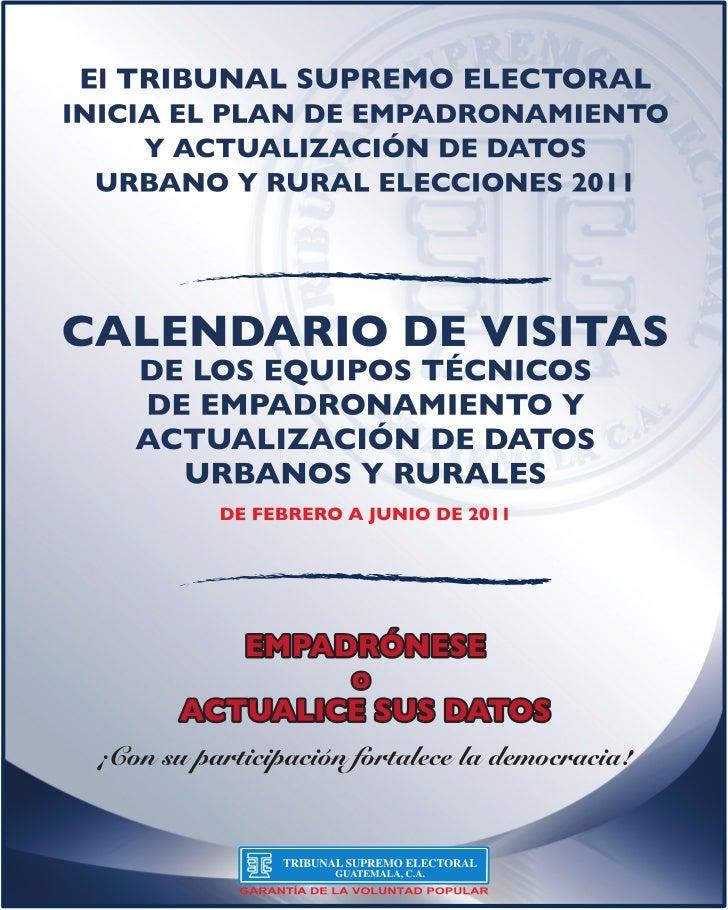 Centros de empadronamiento departamentales (elecciones 2011)