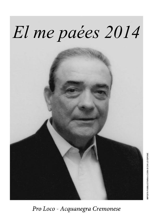 Calendario 2014 Pro Loco Acquanegra Cremonese