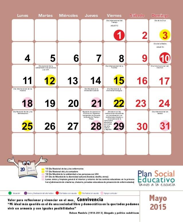 Calendario 2015 Beto Calendario 2015 Calendario Escolar 201