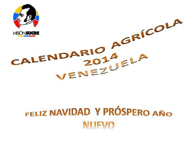 Calendario agrícola2014
