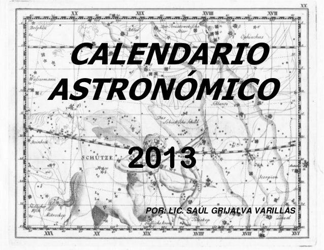 Calendario Astronómico 2013