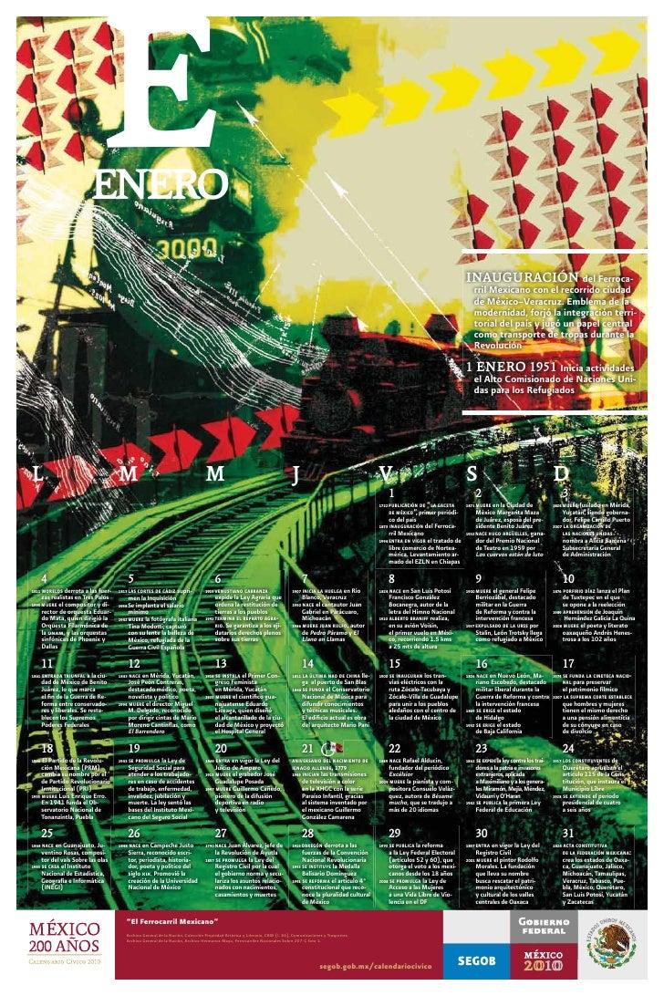 Calendario Civico 20010
