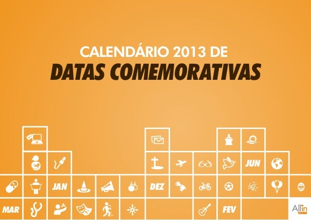 Calendario de Datas Comemorativas 2013