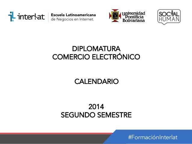 Calendario_Diplomatura en Comercio Electrónico Panama Semestre 2_2014