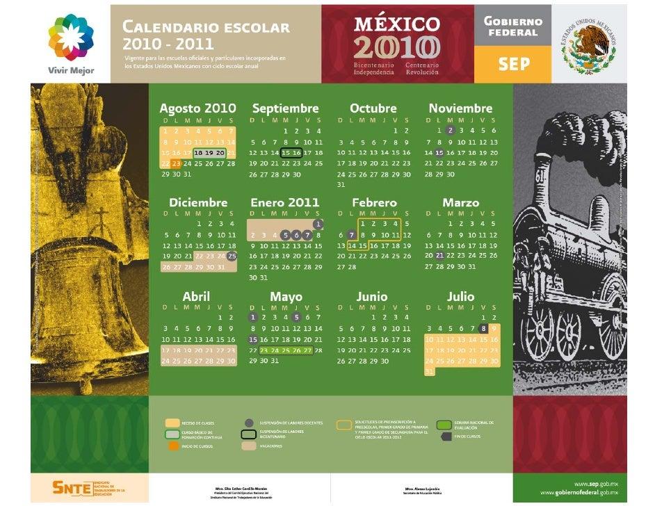 Calendario escolar 2010 2011