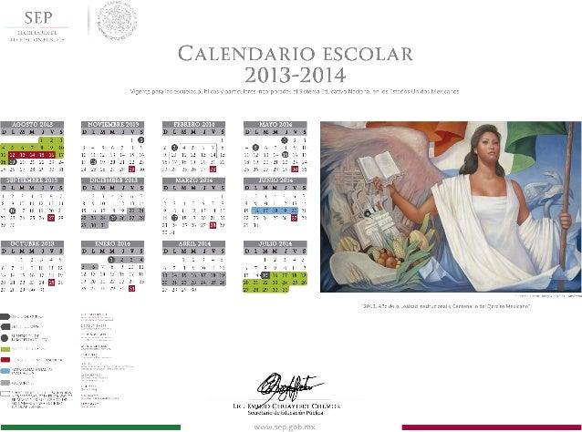Calendario escolar2013 2014