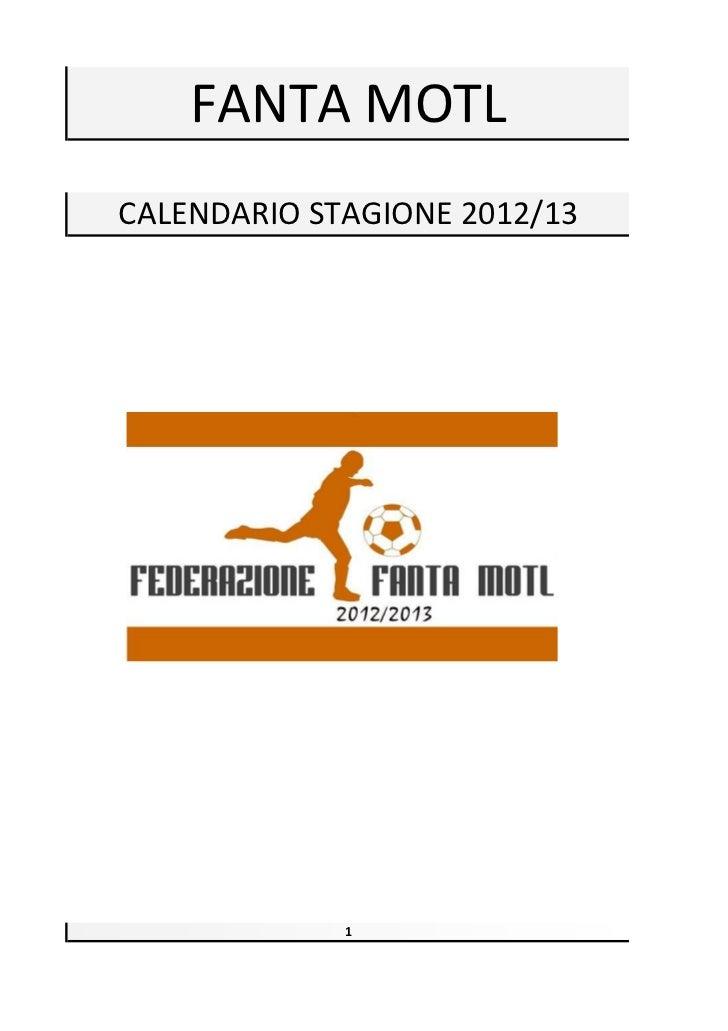 Calendario Fanta Motl 2012/13