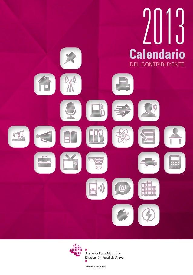 Calendario fiscal Álava 2013