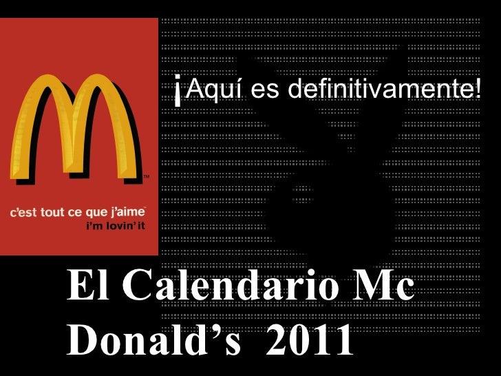 Calendario mcdonalds2011