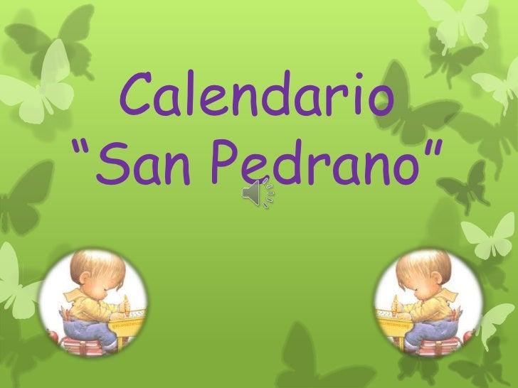 """Calendario""""San Pedrano"""""""