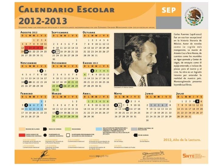Calendario sep 2012 2013