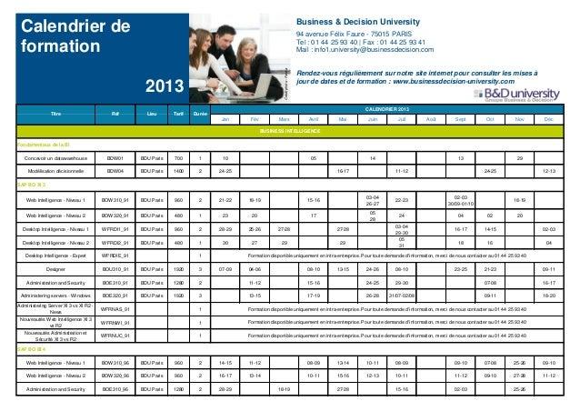 Business & Decision University Calendrier de                                                                              ...
