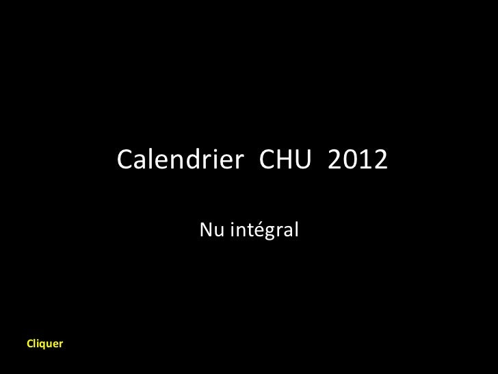 Calendrier chu 2012