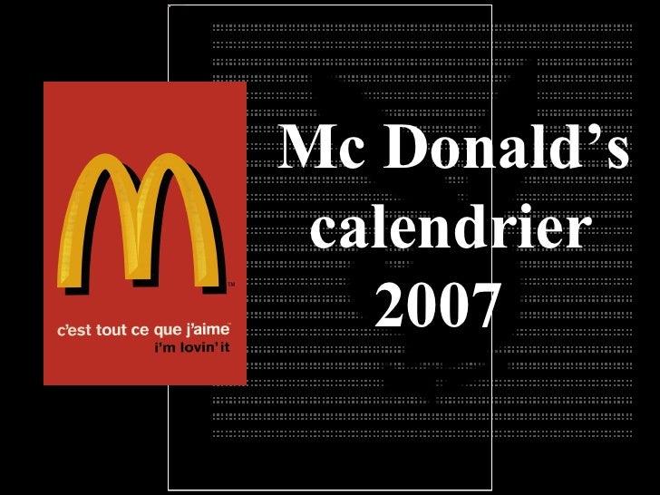 Calendario Mac Donald
