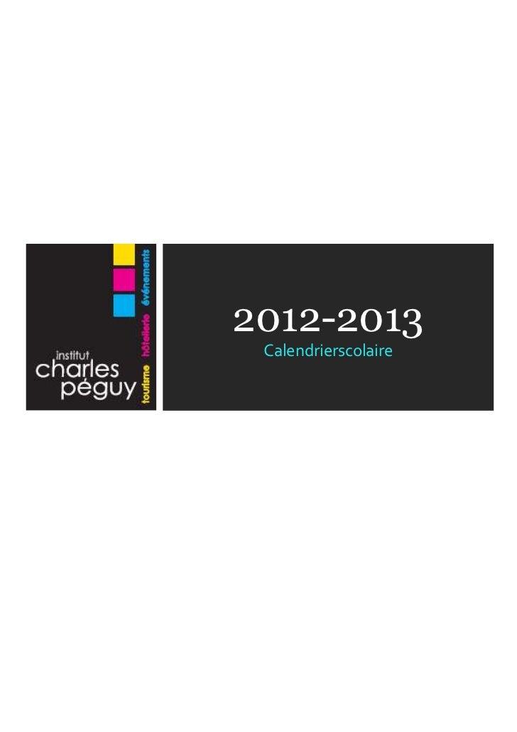 2012-2013 Calendrierscolaire