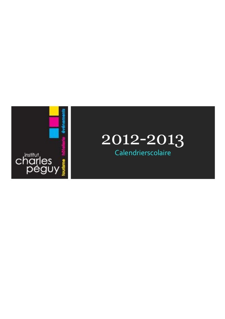 Calendrier des activités 2012 - 2013