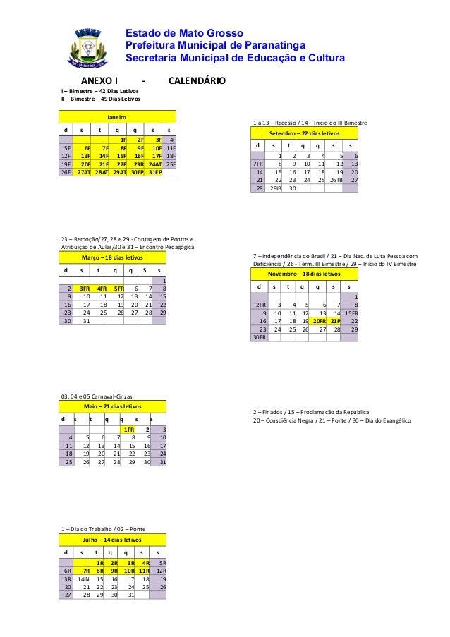 Calendário urbano 2014