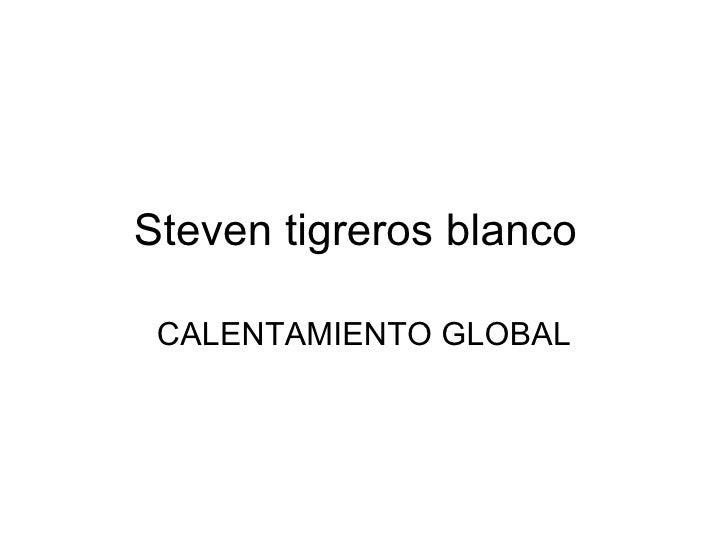 Steven tigreros blanco CALENTAMIENTO GLOBAL