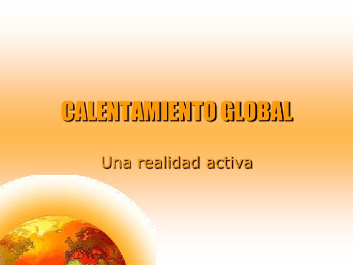 Calentamiento global ppp