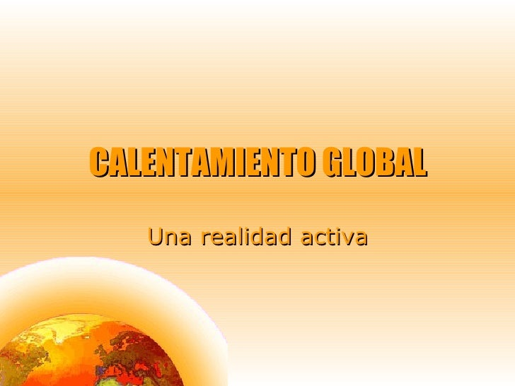 Calentamiento global ppp