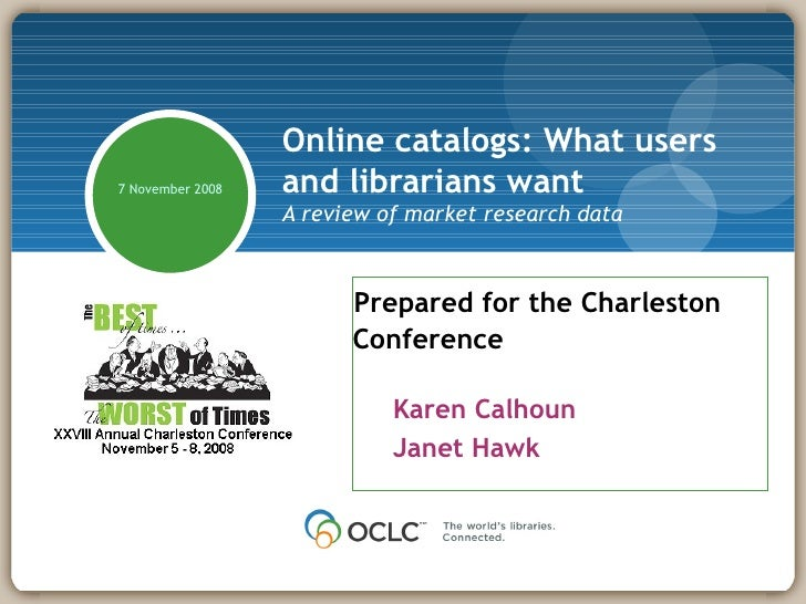 Online Catalogs: What Users and Librarians Want