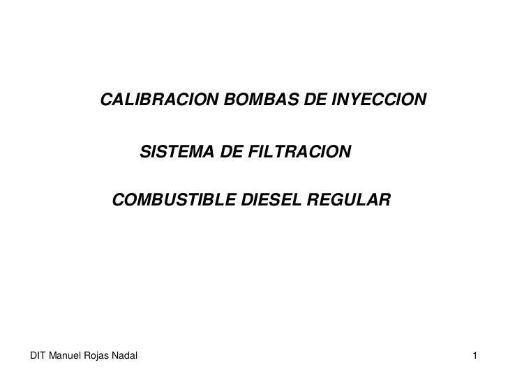 Calibracion de Bombas Inyeccion
