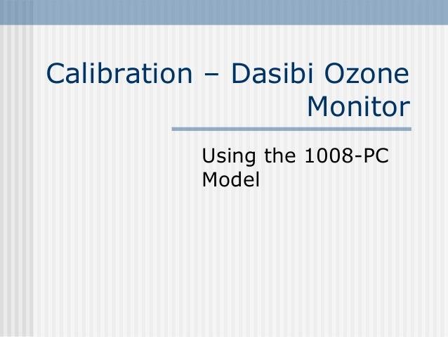 Calibration dasibi-ozone